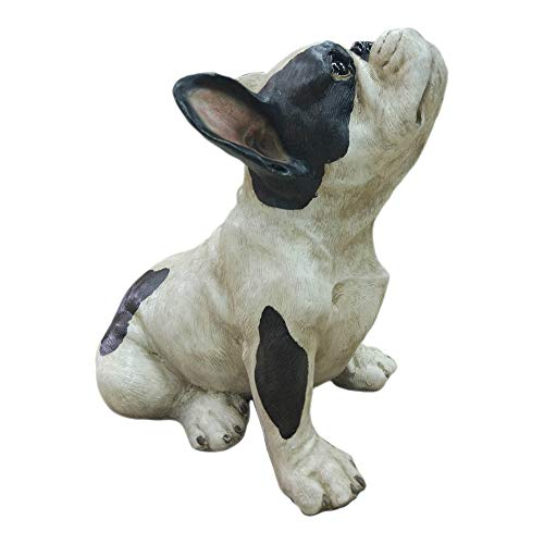 Moe's Home Collection Frenchie Jean Bull Dog Statue, 11.5' H, Black/White
