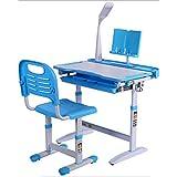 N/Z Daily Equipment Kids Desk and Chair Set Children Study Desk Children's Writing Desk Kid Desk Boy and Girl Homework Desk and Chair Set with Light