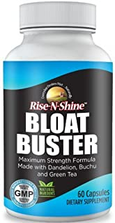 Bloat Buster Natural Diuretic Water Pills with Dandelion, Green Tea, Apple Cider Vinegar and More to Help Lose Water Weight, Relieve Bloating, Swelling and Water Retention 60 Count