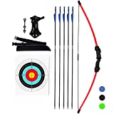 KESHES Archery Recurve Bow and Arrow Youthbow Set - Beginner Bows for Outdoor...