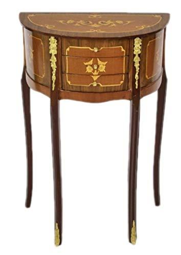 Casa Padrino Barock Kommode Mahagoni Intarsien/Gold mit 3 Schubladen - Nachtschrank Antik Stil