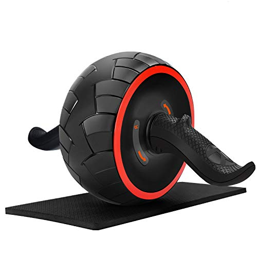 June Fox Ab Roller Wheel for Abs Workout Ab Carver Abdominal Exercise Equipment with Knee Pad