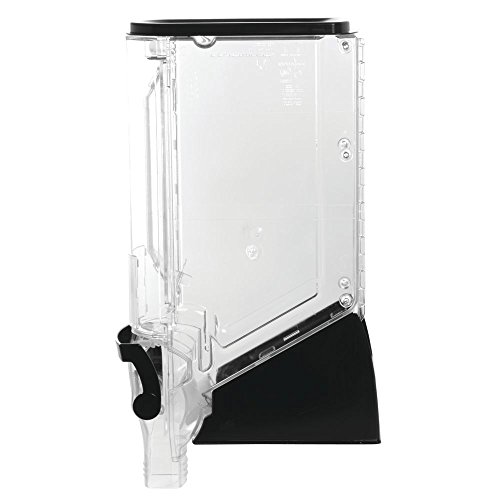"Trade Fixtures 06100TR-MBS Gravity Bin, 6"" x 24"", BPA-Free Tritan by Eastman, Clear with Black"