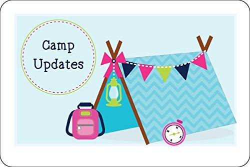 """Camper Blue Tent Camp Postcards   Kid Postcards   Camp Stationery   6"""" X 4"""" Postcards for Kids"""