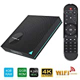Android Box, Y1 Android 9.0 TV Box Rockchip RK3318 Quad-Core 64bit Cortex-A53 4GB
