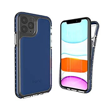 iHome iPhone 11 Series Phone Case  Premium Silicone Lightweight Ultra Slim Shock Absorbent Velo Protective Case- Wireless Charging Compatible  Blue iPhone 11 Pro