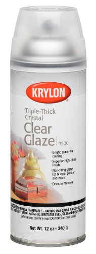 Krylon I00500A00 12-Ounce Triple Thick Clear Glaze Aerosol Spray,High-Gloss