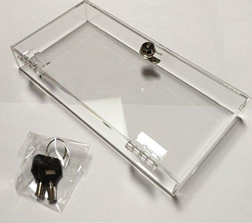 Acryl box met geïntegreerd slot + 2 x sleutel – afsluitbare box – smartphone stop – tegen sociale media/app/mobiele telefoon zoeken – vergrendel de weg van je smartphone – symbolisch cadeau