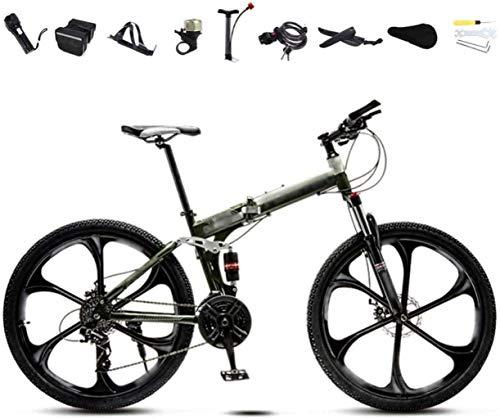 MG Ruedas de Bicicleta de montaña 24-26 Pulgadas, Plegable Bicicleta de cercanías...