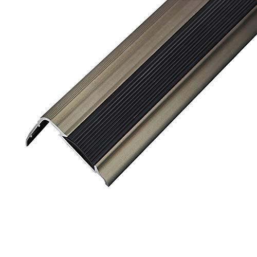 Cierre de Escaleras 1,2M Longitud L Forma de lección de Aluminio Anti Deslizamiento sin Deslizamiento 35x20mm ángulo de ángulo escaleras de Borde Anti-colisión 2 Piezas Exterior e Interior