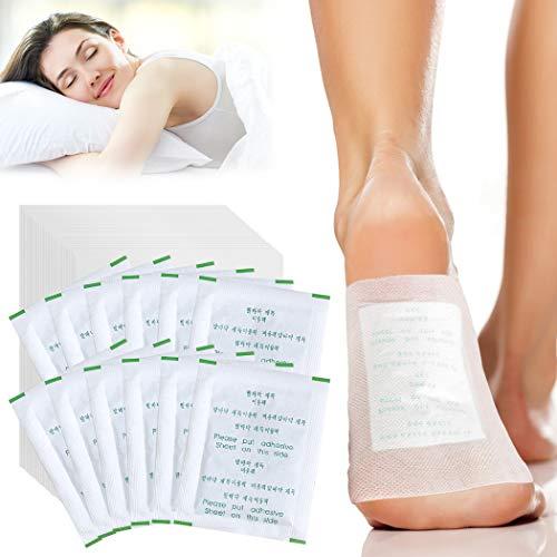 Detox Fußpflaster, FunPa Detox Pflaster Fuß Qualitativ hochwertig und gut verträglich, Bambus Pflaster Wellness- Detox-Pflaster zieht die Toxine Spa