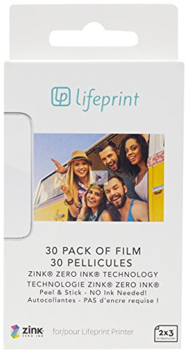 Lifeprint PH03 Paquete de 30 Hojas para la Impresora Blanco