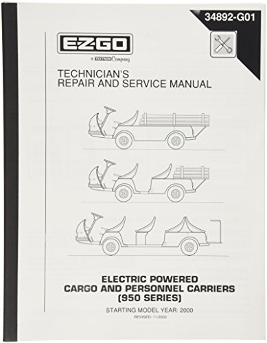 EZGO 34892G01 1999-2004 Manual de reparación y Servicio de técnicos 950 Series Cargador eléctrico y…