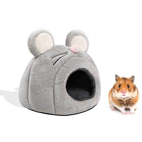 DXSS lit de Cochon Dinde, nid de Hamster cachette de hérisson Cage Chaude Maison de lit de Grotte, Accessoire de Cage Chaude dhiver Lavable