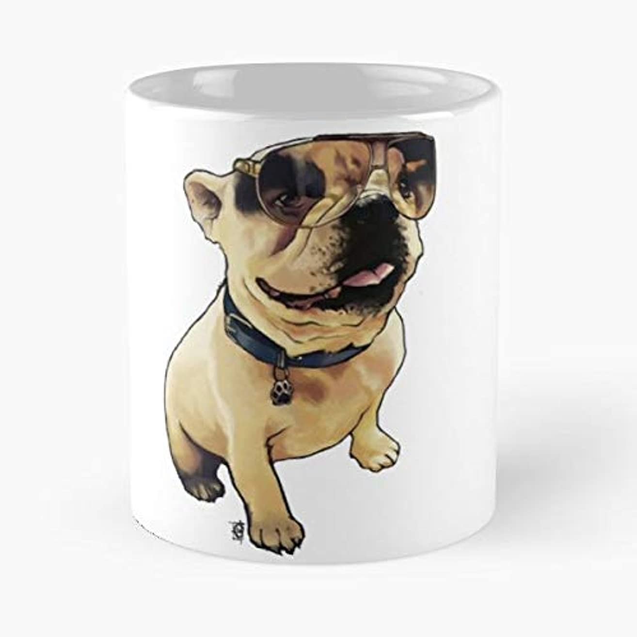 Alfie French Bull Dog Puppy Love Sunglasses Cool Dude Boy Baby Pug - Best Gift Coffee Mugs 11 Oz Father Day