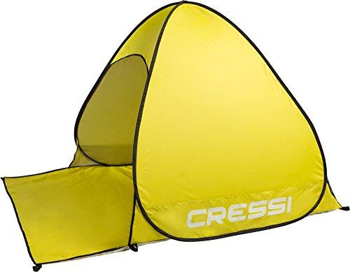 Cressi Beach Tent Tenda Da Spiaggia E Tempo Libero Di Facile Trasporto E Montaggio, Giallo, 165 X 150 X 110 Cm
