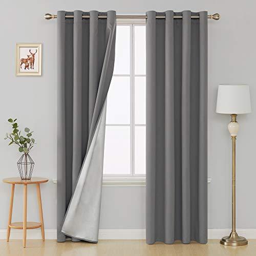 cortinas opacas grises un panel
