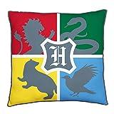 Character World Harry Potter - Cojín cuadrado con licencia oficial de...
