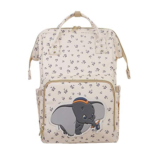 HFTYCC Beige lindo Dumbo USB bolsa de pañales impermeable mochila de maternidad/bolsa de pañales para mamá bolsas de viaje de enfermería de lujo nuevo 2020