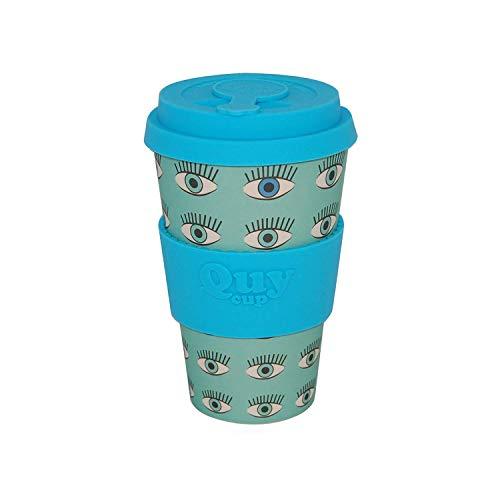 QUY CUP Taza de Café de Bambú - 400ml. Taza Ecológica Reutilizable...