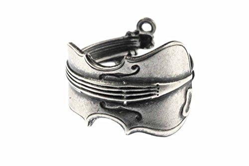 Miniblings Geigen Violine Bratsche Ring - Geigen Violine Bratsche - Handmade Modeschmuck I Fingerring mit Motiv I verstellbar one Size