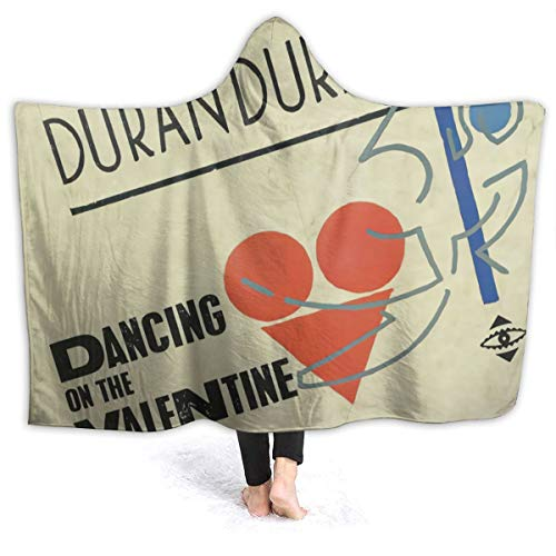 MAJJAKJH-id Blanket Hoodie Duran Duran Dancing On The Valentine Adults and Children Blanket Blanket, Soft Cape, Shawl Wrap