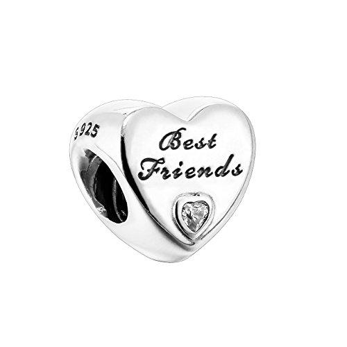 PANDORA Charm - Best Friends - Heart, 791727CZ