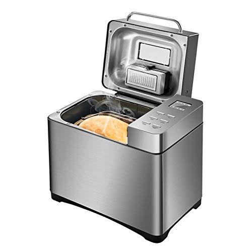 XIJING Máquinas de Pan, máquina de Pan de Desayuno programable de Acero Inoxidable de 650 W, lavavajillas Antiadherente, Bandeja Segura con dispensador de Frutos Secos de 3 tamaños de Pan, 220 V