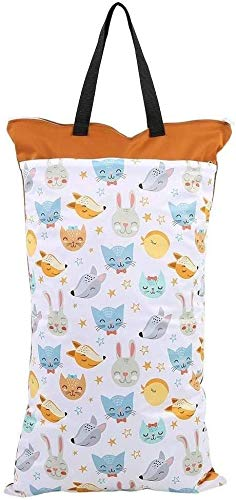 Cloth Diaper Bag, Grote hangende waterproof Dry herbruikbare Wasbare de baby doek luier Bag (Kleur: EF203) (Color : Ef160)