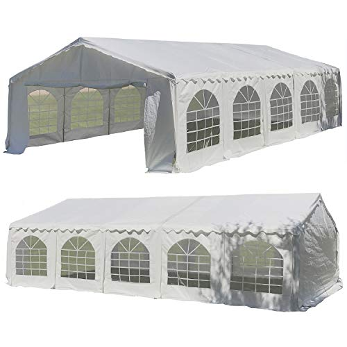 32'x16' Budget PE Party Tent Canopy Shelter White - by DELTA Canopies