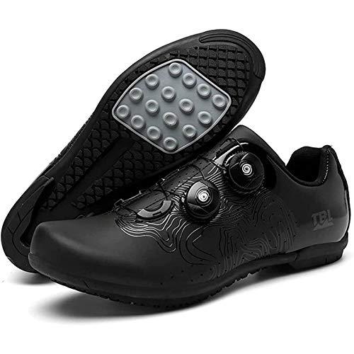 WDZJM Zapatillas de Ciclismo, Zapatos de Bloqueo de Bicicletas de montaña Antideslizantes Transpirables para Hombres y Mujeres, sin Zapatos de Bloqueo, Zapatos de Ciclismo dinámico de Ciclismo.