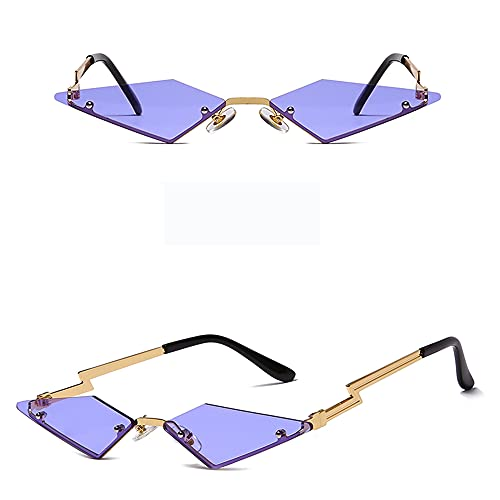 YYMM Gafas de Sol sin Montura de Moda, Gafas de Sol de fotografía de la Calle de la Personalidad Europea y Estadounidense, Gafas de Metal de Moda para Mujeres, para el Viaje al Aire Libre