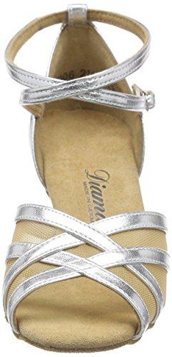 Diamant Latein 035-087-013 Damen Tanzschuhe – Standard & Latein, Silber (Silber), 40 EU (6.5 UK) - 2