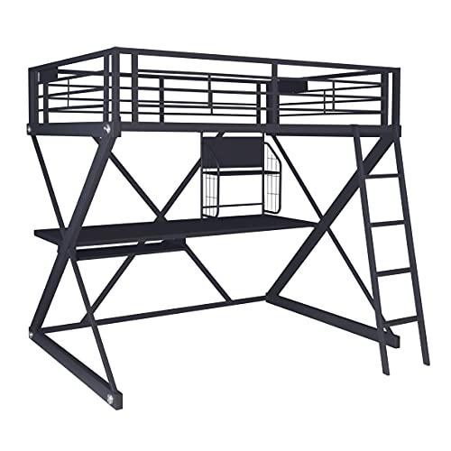 Hot Sale Powell Z-Bedroom Full Size Loft Study Bunk Bed