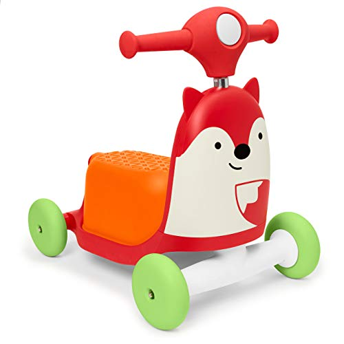 Skip Hop Zoo 3-in-1 Ride-On Toy, Fox