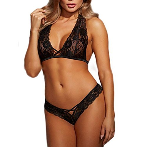 Culater® Sexy Lingerie Hot Erotic Babydoll in Pizzo Pigiama Esotico Vestito Cassa Spostata Reggiseno Aperto della Biancheria Intima Porno Cameriera Costumi Sexy