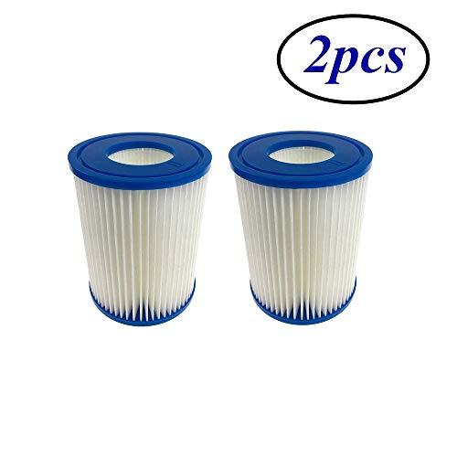 XUNGENG Cartucho filtro piscina para Bestway Tipo II, filtro tipo II piscina familiar indispensable, accesorio para bañera hidromasaje o spa, recambio para cartuchos de filtrado (2 unidades)