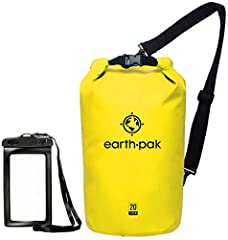 RELIABLE PROTECTION: We believe our earth pak dry bags are the best out there--bar none. These dry bags are meant to last for years and provide waterproof protection for even the most rugged users. SHOULDER STRAP: 10L & 20L dry bags come with a 24-42...