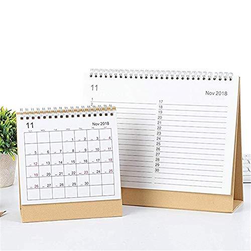 Tischkalender 2019 Querterminbuch Wochenplaner Monatsplan Aufgabenliste Schreibtischkalender Daily Rainlendar Einfacher Stil Tisch-Querkalender, 1 Woche 2 Seiten 1 Buch