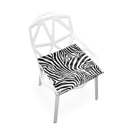 linomo Tier Zebra Druck Memory Foam Stuhlkissen Sitzkissen für Kinder, 40 x 40 cm