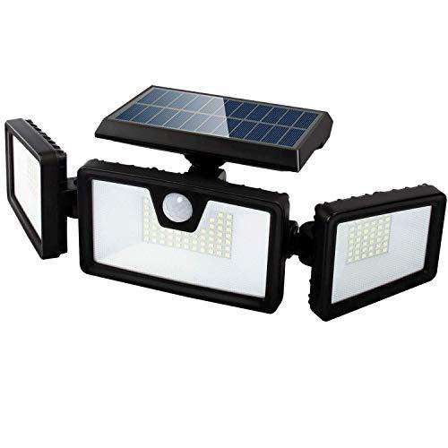 SEFON Solarlampen für Außen mit Bewegungsmelder, 132 LED Solarleuchten mit Bewegungsmelder IP65 Wasserdichte Solar Wandleuchte 3 Modi Solar Aussenleuchte Solar Led Außen für Garten 1 Stk