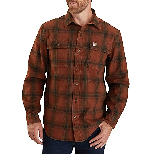 Carhartt Men's 104451 Original Fit Flannel Shirt - XXXX-Large - Mineral Red