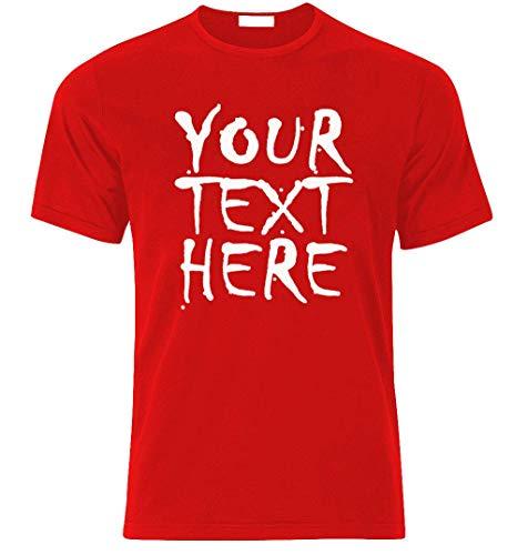 Ihr Wunschtext am T-Shirt selbst gestalten individueller Druck personalisiert beeindruckend Geschenk Überraschung Geburtstag Junggesellenabschied Team Party Geschäftst T-Shirt Best (L, ROT)
