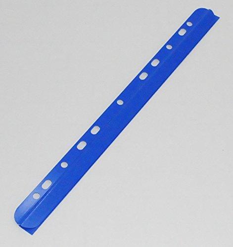 Kim Kranholdt - Dorsi per rilegatura, formato A4, con foro, 3 mm, 25 pezzi, blu