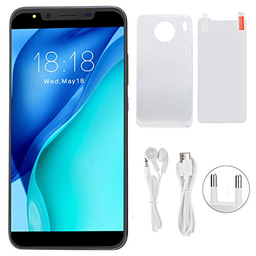 Teléfono Celular, 5.72in 3G Teléfono de Pantalla de Ajuste Completo de Alta definición, 100-240V Tarjetas duales Doble Modo de Espera para teléfono Apto para Android(UE. Enchufe púrpura)