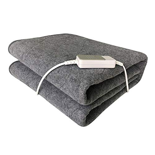 Dadiao Elektrische verwarmingsdeken voor eenpersoonsbed, eenpersoons, machinewasbaar, niet geweven, verwarming voor 3 volt, lichtbruin