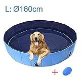 Dog Pool Ø160cm Piscina per Cani, Cani Animali...