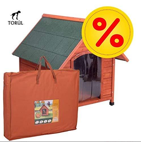 Spike Confort Torúl Set Caseta Puerta y Aislante para Mascotas Perros Gatos Talla M: 78 x 88 x 81 cm
