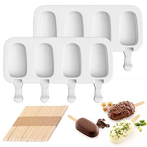 🍦[REUTILIZABLE Y RESISTENTE AL CALOR] Nuestro molde para helado está hecho de material de silicona ecológico, libre de BPA, no tóxico, inodoro y no se deforma fácilmente. Los moldes para paletas pueden soportar temperaturas de -40 a 230 grados Celsiu...