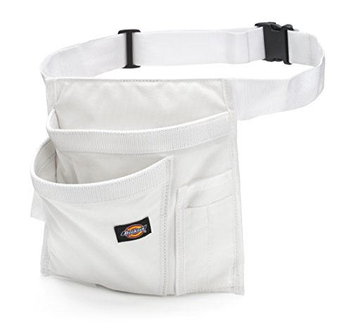 Dickies 5-Pocket Single Side Tool Belt Pouch/Work Apron for Painters, Carpenters, and Builders, Durable Canvas Construction, Adjustable Belt for Custom Fit